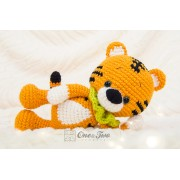 Denver the Tiger Minilovey and Amigurumi Crochet Patterns Pack - English, Dutch, German, Spanish, French