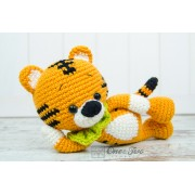 Denver the Tiger Amigurumi Crochet Pattern - English, Dutch, German, Spanish, French