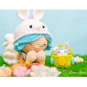 Hop the Bunny Dolly Amigurumi Crochet Pattern - English, Dutch, German, Spanish, French