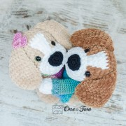 Lucas the Beagle Amigurumi Crochet Pattern - English, Dutch, German, Spanish, French