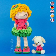 Summer the Watermelon Dolly Dolly Amigurumi Crochet Pattern - English, Dutch, German, Spanish, French