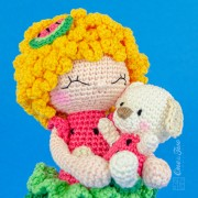 Summer the Watermelon Dolly Amigurumi Crochet Pattern - English, Dutch, German, Spanish, French