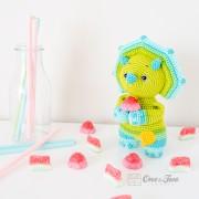 Tessa the Triceratops - Little Explorer Series Amigurumi Crochet Pattern - English, Dutch, German, Spanish, French