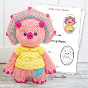Tessa the Triceratops - Little Explorer Series Amigurumi Crochet Pattern - English, Dutch, German, Spanish, French