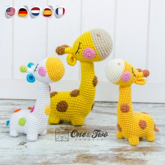 Bernie the Giraffe - Quad Squad Series Amigurumi Crochet Pattern - English, Dutch, German, Spanish and French