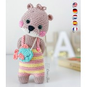 Ori the Otter Amigurumi Crochet Pattern - English, Dutch, German, Spanish, French