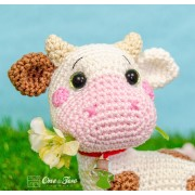 Penelope the Cow - Quad Squad Series Amigurumi Crochet Pattern - English, Dutch, German, Spanish, French