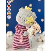 "Lumina the Moon ""Spirits of Nature Series"" Amigurumi Crochet Pattern - English, Dutch, German, Spanish, French"