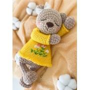 Sugar the Bear Amigurumi Crochet Pattern - English, Dutch, German, Spanish, French