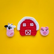 Cow, Pig and Farm Applique Crochet