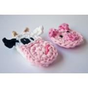 Cow, Pig and Farm Applique Crochet