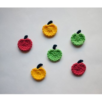 Apple Applique Crochet