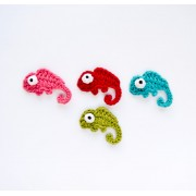 Chameleon  Applique Crochet