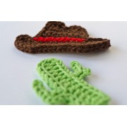 Cowboy Hat and Cactus Applique Crochet