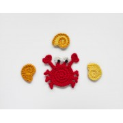 Crab & Conch Applique Crochet