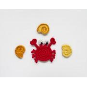 Crab & Conch Applique Crochet