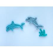 Dolphin Applique Crochet