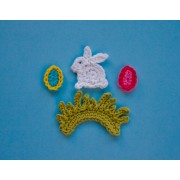 Easter Rabbit Applique Crochet