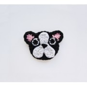 French Bulldog Applique Crochet