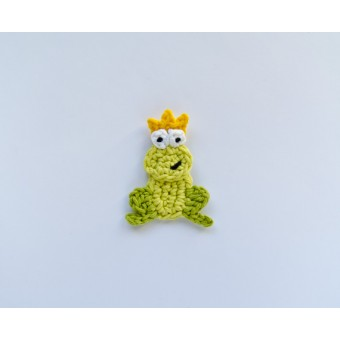 Frog Prince Applique Crochet Phototutorial