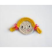 Girl Applique Crochet