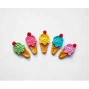 Ice Cream Applique Crochet