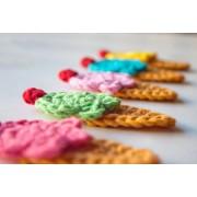 Ice Cream Applique Crochet