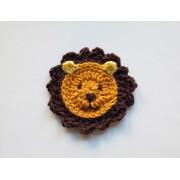 Lion Applique Crochet