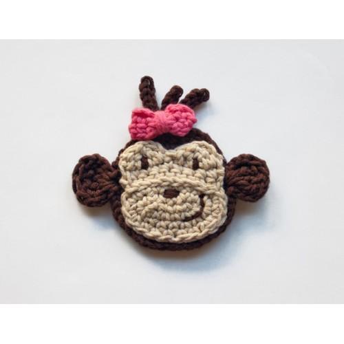 Free Pattern Crochet Monkey : Monkey Applique Crochet