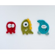 Monsters Applique Crochet