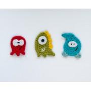 Monsters Applique Crochet