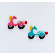 Motorbike Applique Crochet