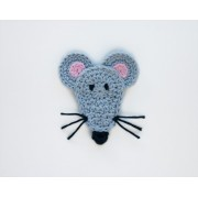 Mouse Applique Crochet