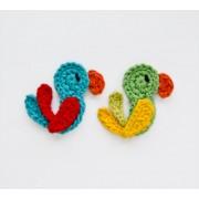 Parrot  Applique Crochet