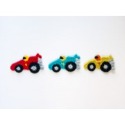 Racing Car Applique Crochet