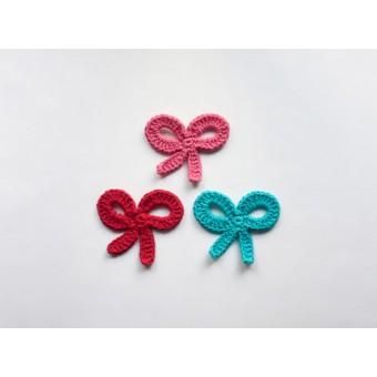 Bow Applique Crochet