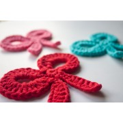 Bow Applique Crochet