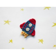 Rocket  Applique Crochet