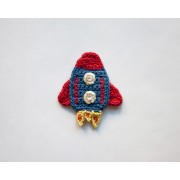 Rocket  Applique Crochet