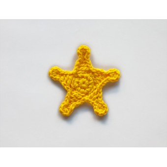 Sheriff Star Applique Crochet