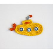 Yellow Submarine Applique Crochet
