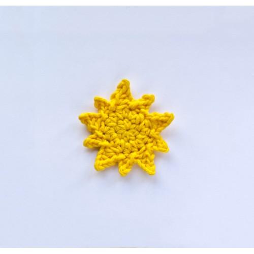 Sailboat Life Preserver And Sun Applique Crochet