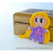 Baby Rapunzel Applique Crochet