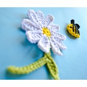 Bee and Flower Applique Crochet