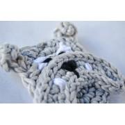 English Bulldog Applique Crochet