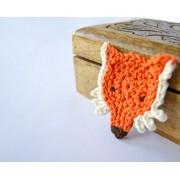 Fox Applique Crochet