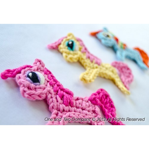 Pony Applique Crochet