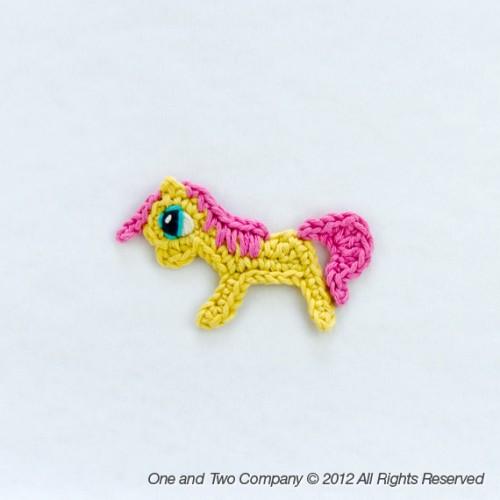 Pony Applique Crochet