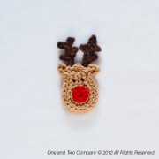 Reindeer Applique Crochet