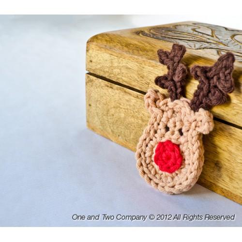 Reindeer Applique Crochet